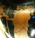 Oionokles Painter - Hades (on the right) and Persephone (on the left). Detail from an Attic red-figure amphora, ca. 470 BC, from Italy. Public Domain courtesy of Jastrow (2006) and Wikipedia.